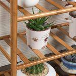 LXLA- Succulentes Pot De Fleur Stand Salon Multicouche Présentoir En Bois Massif Balcon En Pot Plant Rack Intérieur 3-Tier (taille : 70×24×46cm) de la marque LXLA-support de fleurs image 4 produit