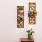 LXLA Support de pot de fleur de balcon en bois massif Tenture murale sur l'étagère d'affichage mural Support d'étagère murale en pot suspendu d'intérieur (Couleur : Couleur du bois, taille : 90×30cm) de la marque LXLA-support de fleurs image 2 produit