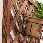 LXLA Support de pot de fleur de balcon en bois massif Tenture murale sur l'étagère d'affichage mural Support d'étagère murale en pot suspendu d'intérieur (Couleur : Couleur du bois, taille : 90×30cm) de la marque LXLA-support de fleurs image 3 produit