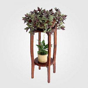 LXLA Table ronde Fleur Pot Stand Salon Bois Massif En Bois Plancher-Présentoir Tabouret Chlorophytum Étagères Intérieur Bonsaï (taille : 29×29×80cm) de la marque LXLA-support de fleurs image 0 produit