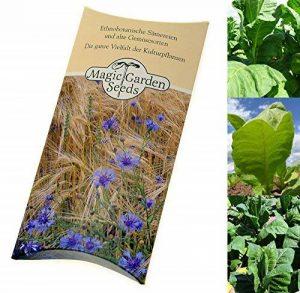 Magic Garden Seeds Kit de graines: 'Tabac à cigarettes', 3 variétés de tabac pour créer vos propres mélanges de tabac à rouler, présentées dans une belle boîte cadeau de la marque Magic Garden Seeds image 0 produit