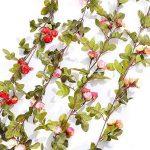 Malayas Lot DE 1 Vigne Artificielles à Suspendre Fleur Guirlande en Soie 220cm pour Mariage Fête Jardin Décoration Maison Anniversaire - Rose Rouge de la marque Malayas image 2 produit