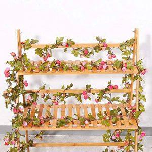 Malayas Lot DE 1 Vigne Artificielles à Suspendre Fleur Guirlande en Soie 220cm pour Mariage Fête Jardin Décoration Maison Anniversaire - Rose Rouge de la marque Malayas image 0 produit