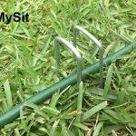 MySit 200 Piquets de fixation en acier agrafes de jardin 150 mm, 25 mm large, Ø 3,0 mm en forme de U la fixation paysage des tissus anti mauvaises herbes molleton imperméables de la marque image 3 produit
