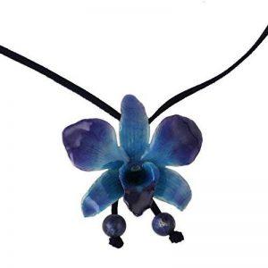 Novica Naturel Orchidée et sodalite Long Lariat Collier, 87,6cm, 'bleu nuit' avec cordon de cuir de la marque NOVICA image 0 produit