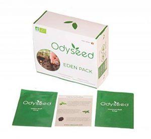 Odyseed - Potager d'Intérieur 100% Bio - Cultivez vos herbes aromatiques - Pack Substrat & Graines Basilic Cannelle et Citron de la marque Odyseed image 0 produit