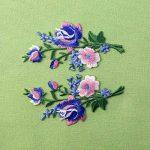 Patch brodé en forme de Fleurs rétro, Bouquet Boho Rose, à coudre ou à coller avec fer à repasser, Rose Bleu de la marque ZEGIN image 4 produit