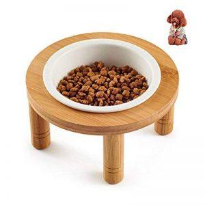 Petacc Bol Céramique de Nourriture pour Chien/Chat avec Support en Bambou, Petite Taille de la marque Petacc image 0 produit