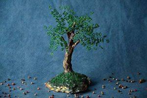 Petit arbre artificiel en perles de rocaille japonaises fait main decoratif de la marque Madeheart image 0 produit
