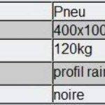 Pneu pour Brouette Grandeur 400x100 / 4.00-8 de la marque WilTec image 1 produit