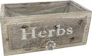 Potager: Boîte aux herbes pour votre jardin d'herbes aromatiques - Jardinière en bois dans le design des tiroirs, 22 x 12 x 12 cm, aspect vintage de la marque Hoff Interieur image 0 produit