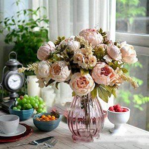 RICISUNG Bouquet de pivoines artificielles en soie Décoration pour fêtes de mariage Festival Noël de la marque DDU image 0 produit
