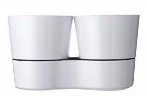 Rosti Mepal 108616030600 Pot Hydro pour Herbes Aromatiques Twin Mélamine Blanc 27,3 x 13,7 x 22 cm de la marque Rosti-Mepal image 0 produit