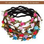 Rovtop Lot de 10 haarband avec couronne de fleurs Bandeau Bandeau Bandes de Cheveux de Fleurs avec bande élastique pour les femmes Fille Multicolore Fleurs de la marque Rovtop image 2 produit