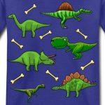 Spreadshirt Différents Dinosaures Et Os T-Shirt Enfant de la marque Spreadshirt image 1 produit