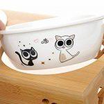 Tao King Chat Gamelles Céramique Set Avec Support bambou 2 x 0,25 l de la marque Tao King image 2 produit