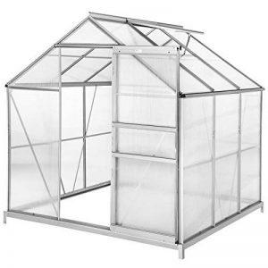 TecTake Serre de jardin et polycarbonate alu tente abri plante jardinage 190x185x195 cm - diverses modèles - (190x185x195 avec base   no. 402472) de la marque TecTake image 0 produit
