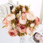 Turelifes Bouquet de fleurs artificielles vintage Rose Pivoine pour mariage et Décoration de la Maison de la marque Turelifes image 1 produit