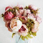 Turelifes Bouquet de fleurs artificielles vintage Rose Pivoine pour mariage et Décoration de la Maison de la marque Turelifes image 3 produit