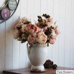 Turelifes Bouquet de fleurs artificielles vintage Rose Pivoine pour mariage et Décoration de la Maison de la marque Turelifes image 4 produit