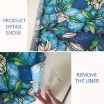 VELIMAX Film Electrostatique Décoratif pour Vitre Design de Orchidée Couleur Bleu Autocollant pour Maison Salle de Bain Cuisine Chambre 40cm x 200cm de la marque VELIMAX image 1 produit