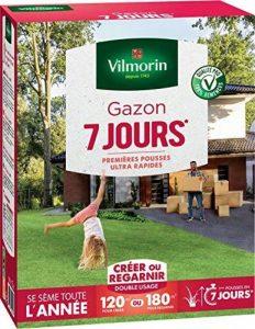 Vilmorin 4460715 Gazon 7 Jours, Vert, 3 kg de la marque Vilmorin image 0 produit