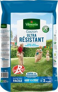 Vilmorin 4462418 Gazon Ultra Résistant, Vert, 15 kg de la marque Vilmorin image 0 produit
