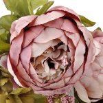 Weksi® Bouquet de Pivoine Artificielle Fleurs, Parfait pour le Mariage, Nuptiale, Partie, Bureau Décor Bricolag (Vieux Rose) de la marque WEKSI INC image 4 produit