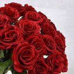 Yidarton 10 Bouquet de Fleurs Artificielles Roses PU Réel Tactile Pour Saint Valentin, Fête des Mères, Noël, Anniversaire, Mariage Decoration de la marque Yidarton image 2 produit