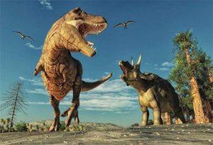 YongFoto 2,2x1,5m Vinyle Toile de Fond Tyrannosaure rex Ptérosaure carnivore prédateur période crétacée dinosaure Fond Décors Studio Photo Portrait Enfant Video Fete Mariage Photobooth Photographie Accesorios de la marque image 0 produit