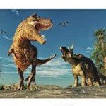 YongFoto 2,2x1,5m Vinyle Toile de Fond Tyrannosaure rex Ptérosaure carnivore prédateur période crétacée dinosaure Fond Décors Studio Photo Portrait Enfant Video Fete Mariage Photobooth Photographie Accesorios de la marque image 2 produit